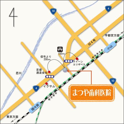 まつや歯科医院 近隣地図